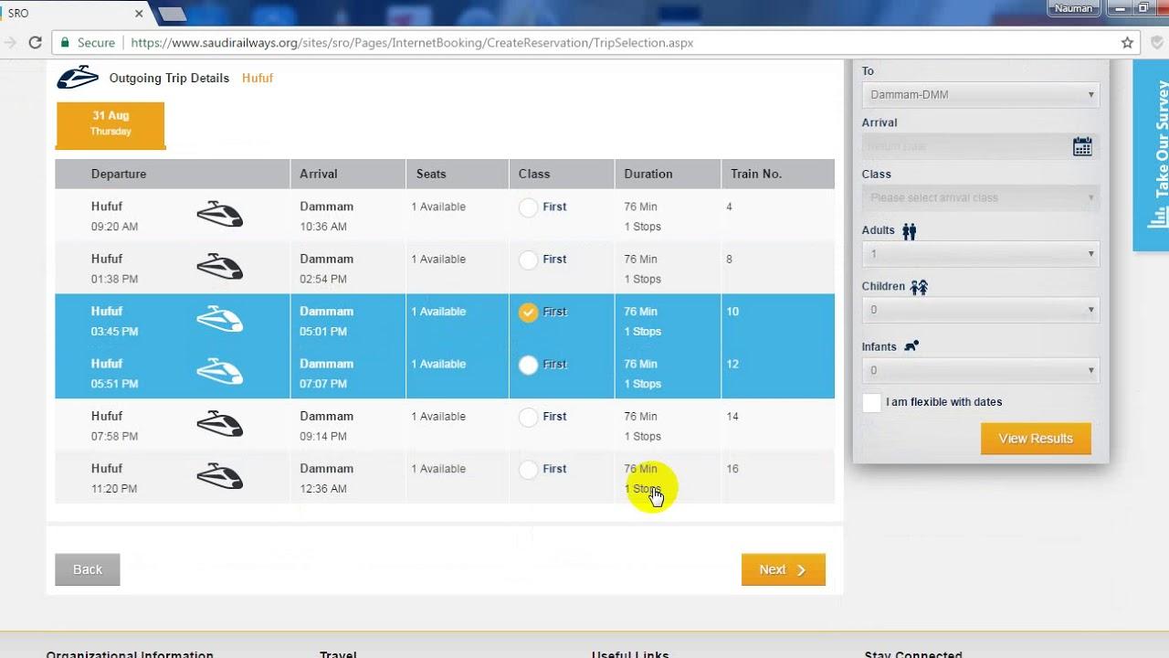How to Book Saudi Arabia Railways Tickets online