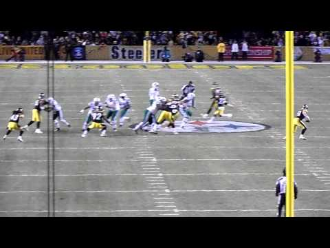 AFC Championship - Big Hit by James Farrior