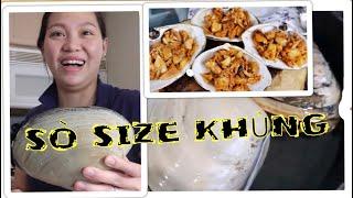 Vlog 591 ll Lần Đầu Ăn Sò Size Bự Nhất 1 Con Nửa Kí Xào Sa Tế Ngọt Lịm. Spicy huge clam