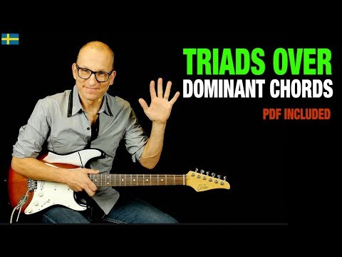 Dominant Chords Triads Trick - use major triads over 7th chords!