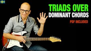Dominant Chords Triads Trick - use major triads over 7th chords! thumbnail