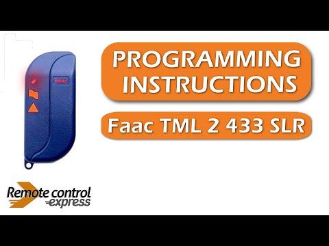 Programming My Remote Faac Tml 2 433 Slr Youtube