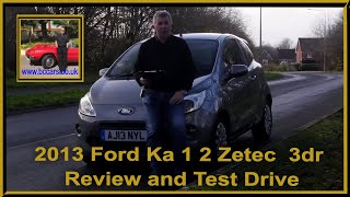 Review and Virtual Video Test Drive In Our 2013 Ford Ka 1 2 Zetec  3dr AJ13NYL