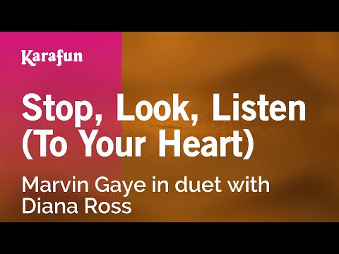 Karaoke Stop, Look, Listen (To Your Heart) - Marvin Gaye *