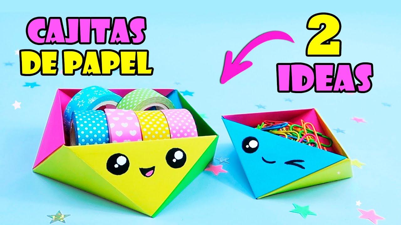 Cajitas de Papel - 2 Ideas! Manualidades con papel