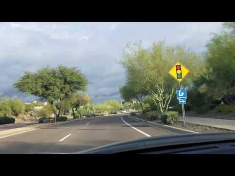 Driving in fountain hills arizona beautiful to own a home here talk to me