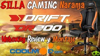 Silla Gaming Drift DR200 Naranja (Coolmod.com) Unboxing, Review y Montaje
