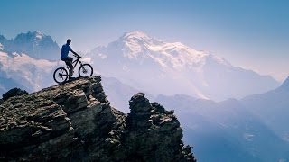 Enduro mountain biking in Swiss Alps, Dent de Morcles 2968m