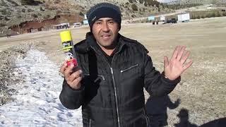 Likit kar zinciri Stac plastik spray tanıtım ve  kar testi