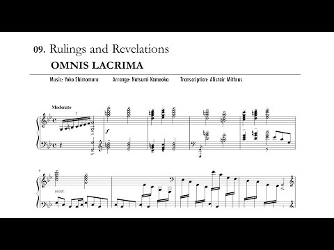 FINAL FANTASY XV Piano Collections - OMNIS LACRIMA - Rulings and Revelations (Sheet music)