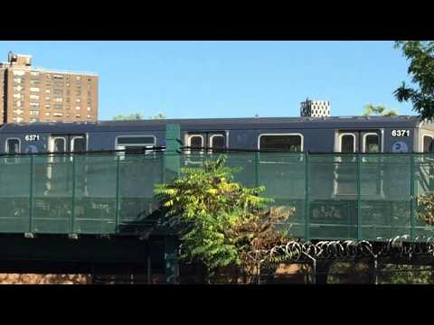 MTA #5 TRAIN DESCENDING INTO 149TH ST. STATION IN THE SOUTH BRONX AREA OF THE BRONX, NYC.