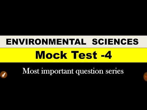 Most important current affairs question of environmental science | mock test 4| mind mapping
