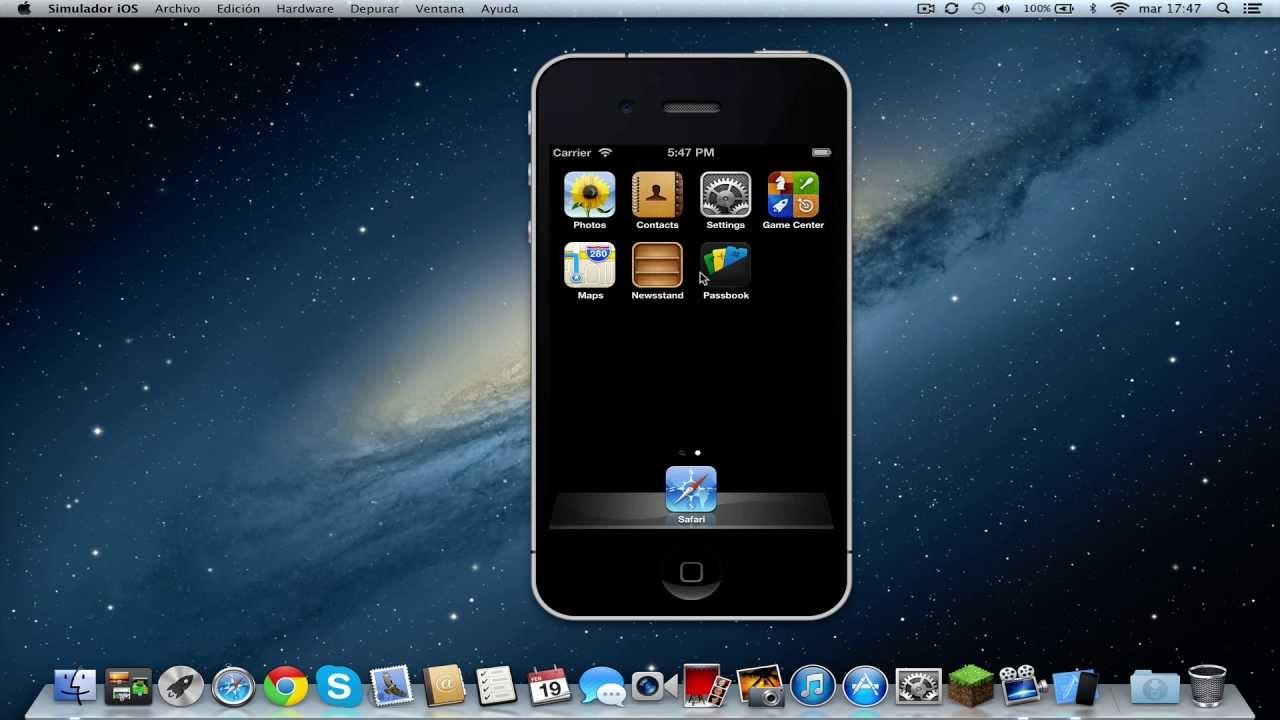 Cómo instalar emulador iPhone/iPad en Mac - YouTube