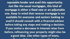 Reverse mortgage vs. refinancing
