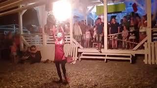 Файер шоу, пляж Лазаревское