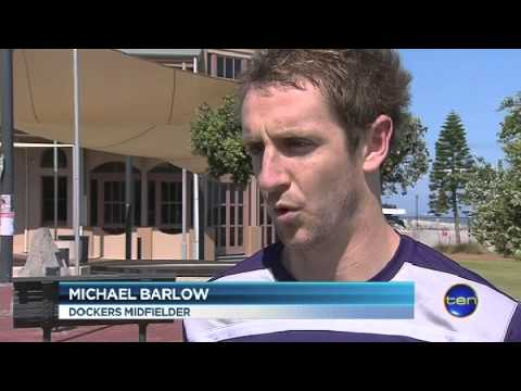 The Dockers arrive to take on the Crows - Ten News Report