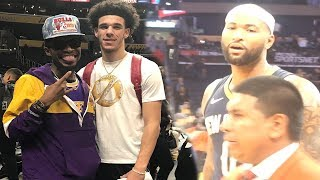 BOOGIE LEFT ME HANGING NASTY!!! COURTSIDE LAKERS GAME VLOG!
