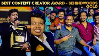Best Content Creator Award - From Behindwoods - Irfan's View