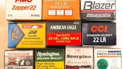 SOLD:  22 ammo - variety Sample pack