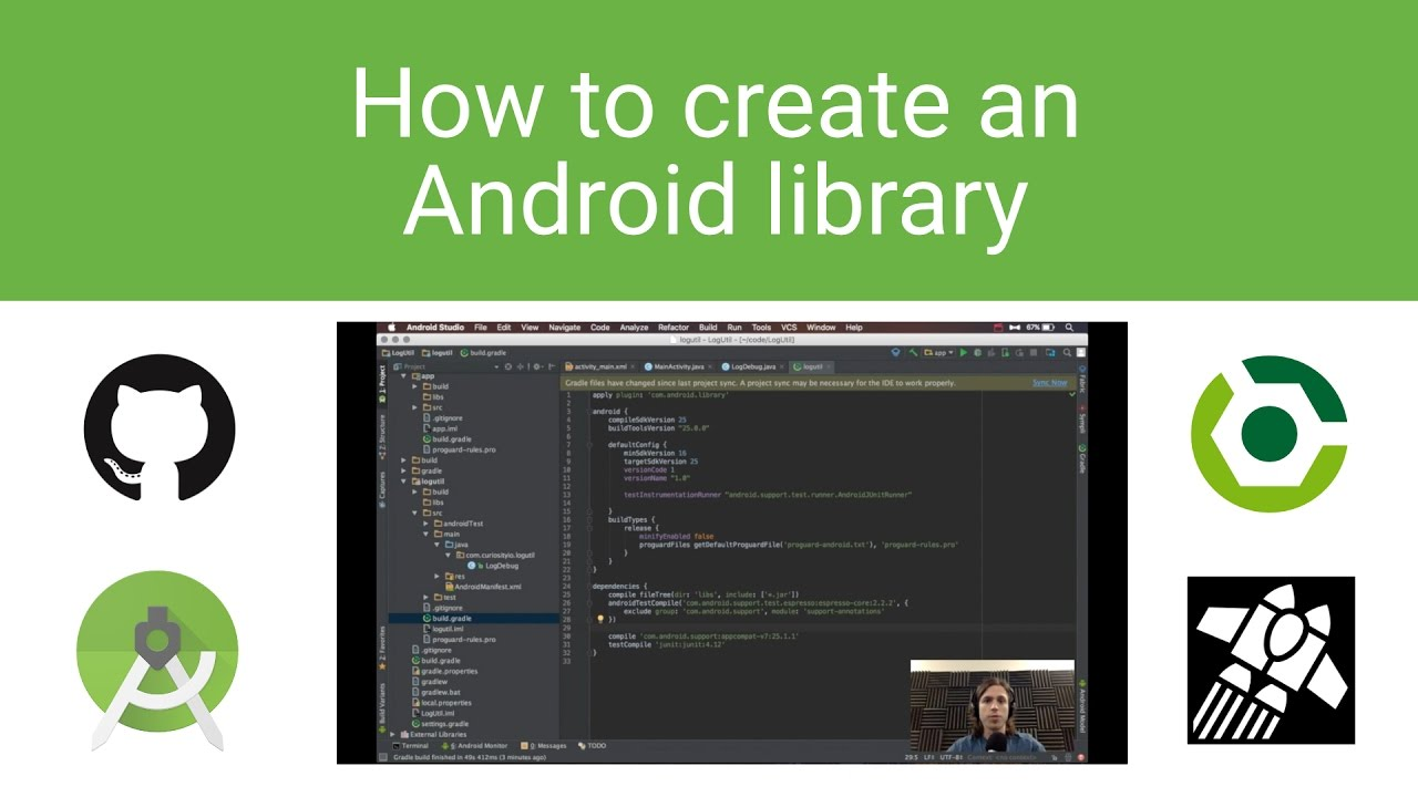 How to create an Android library  GitHub, Gradle, Jitpack io full  walkthrough