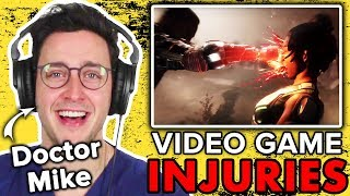 Real Doctor Reacts To Crazy Video Game Injuries Ft. Doctor Mike