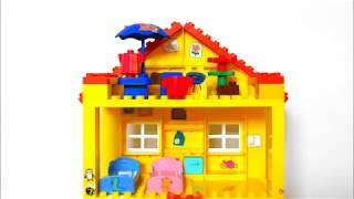 Peppa Pig 107 Mega Blocks Construction House- Stop Motion Animation