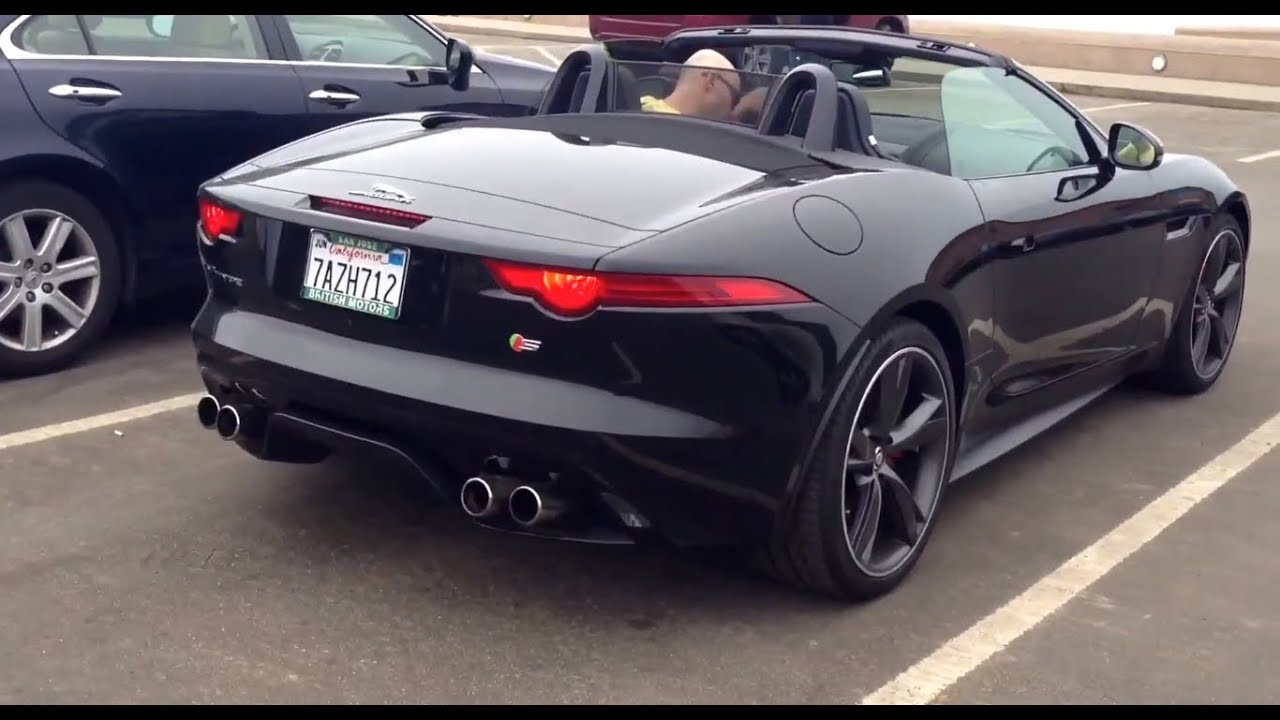 jaguar f type supercharged v8 great engine sounds san francisco area youtube. Black Bedroom Furniture Sets. Home Design Ideas