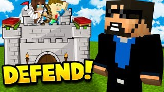 Video MY WIFE AND SON DEFEND THE CASTLE IN MINECRAFT BED WARS!! download MP3, 3GP, MP4, WEBM, AVI, FLV Juni 2017
