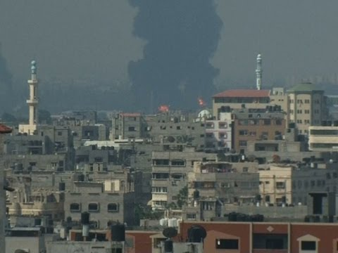 Raw: 2 Shells Hit Fuel Tank at Gaza Power Plant