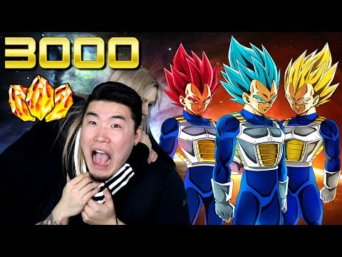 1 VEGETA = 10 PUSH-UPS VS. MY GF! 3000 DS SUMMONS + ACCOUNT GIVEAWAY | DBZ Dokkan Battle