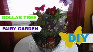 DIY Dollar Tree Fairy Garden