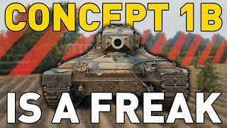Concept 1B is a FREAK in World of Tanks!