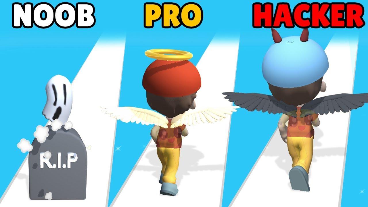 NOOB vs PRO vs HACKER in Good or Devil!