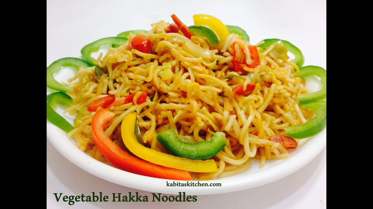 Vegetable Hakka Noodle-Veg Chow Mein-Chinese Noodles in Indian Style ...