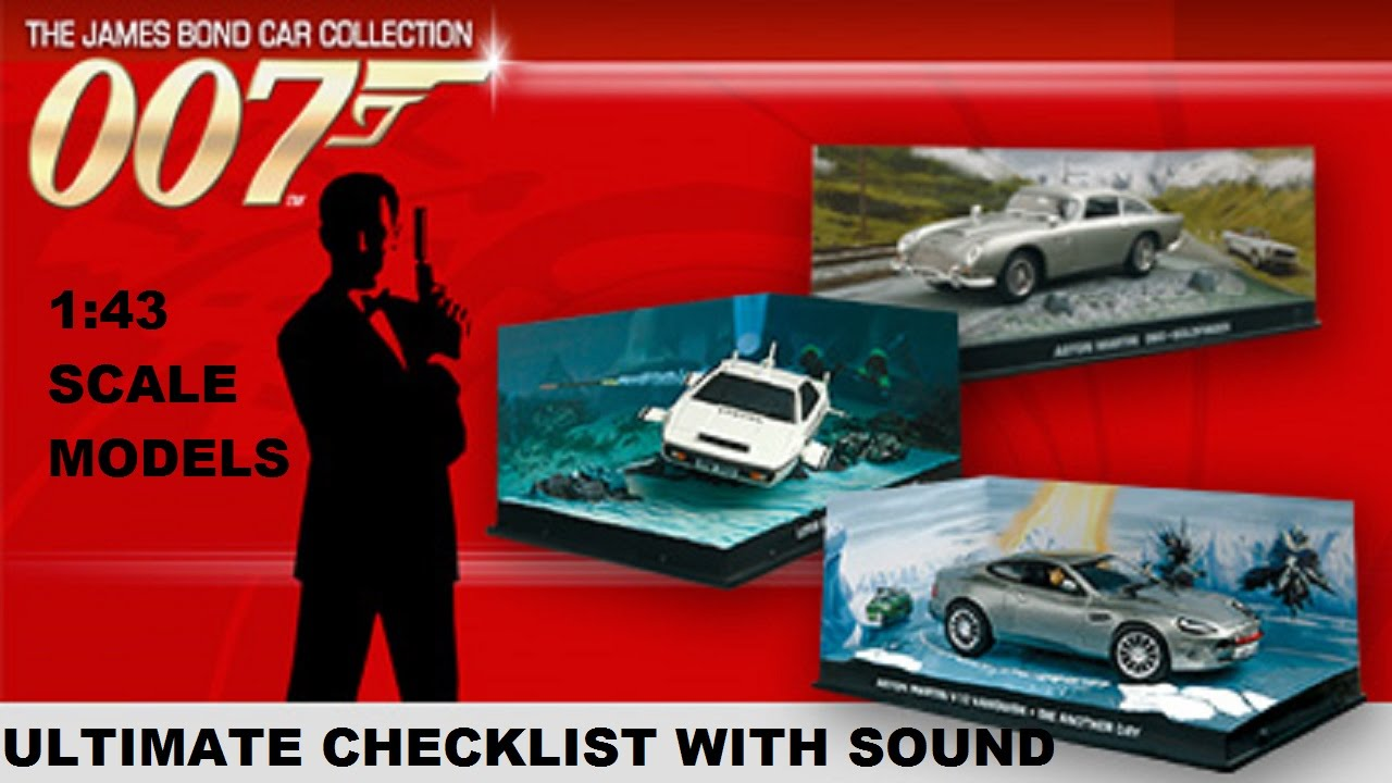 james bond car collection checklist guide all 137 issues youtube. Black Bedroom Furniture Sets. Home Design Ideas