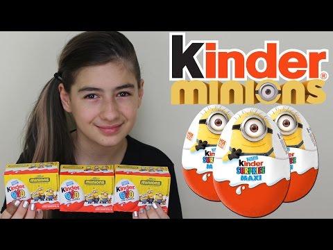 Minions Kinder Ovo Surpresa (Filme, Ovinhos, Coleção, Meu Malvado Favorito) Review Surprise Eggs