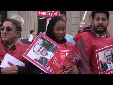 Fair Pay for Bank Staff - strike day 1