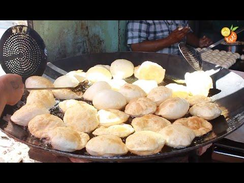 Best Street Food India - Amazing Puri Sabji - Indian Street Food - Street Food 2016