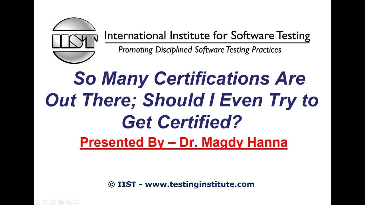Software Testing Certification So Many Certifications Are Out