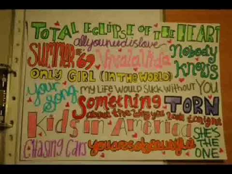 My One Direction lyric drawings!