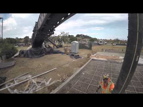 2/2 Concrete Pouring - PAL General Engineering, Pre-Construction Video, California