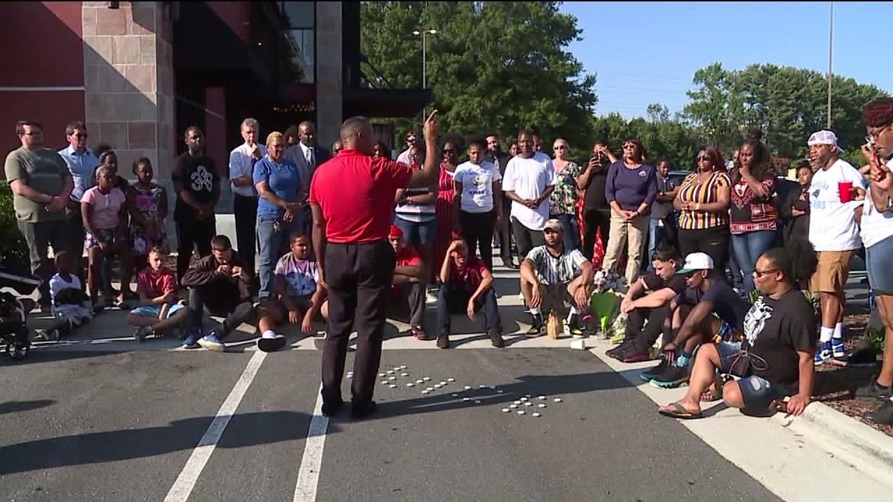 Vigil held for man shot, killed outside Winston-Salem restaurant
