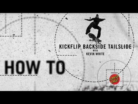 How To: Kickflip backside tailslide with Kevin White | TransWorld SKATEboarding