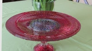 Diy Nail Polish Cake Stand Dollar Store Makeover Craft How To
