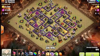 3 Golem 3 Pekka 19 Wizard (GoWiPe) clan war 3 star attack at town hall 9 - clash of clans