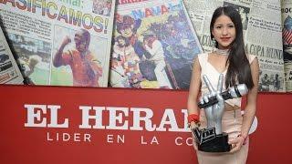 Caliope, la ganadora de La Voz Teens, le cantó a la redacción de El Heraldo