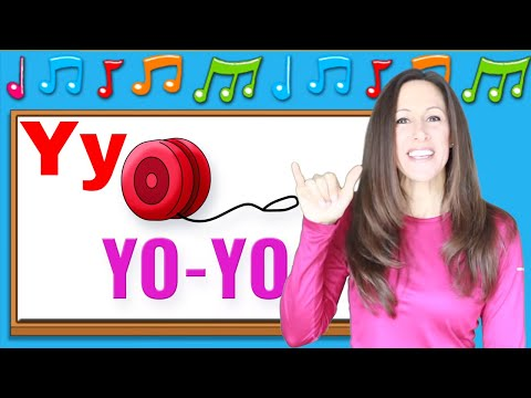 Phonics song for children, letters W, X, Y, Z | Sign language | Learn English | Patty Shukla
