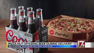 Pizza Hut looking to expand beer delivery; could be coming to NC