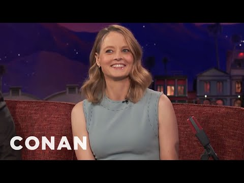 Jodie Foster: Jeff Goldblum Is A Walking Lawsuit   CONAN on TBS