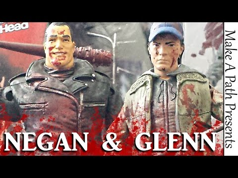 Download Negan & Glenn SDCC Skybound Exclusive 2 Pack Figure Review - McFarlane Toys